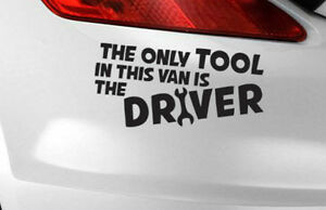 Details about Only Van Sticker Tool Funny Driver Car Vinyl Bumper Window  Decal Jdm Tools Audi
