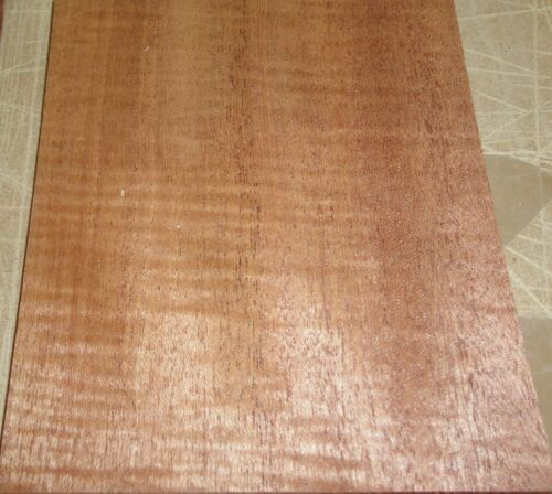 "Mahogany Honduras Sapele Figured wood veneer 5/"" x 5.75/"" raw no back 1//42/"" thick"