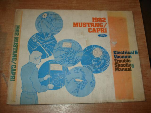 1982 Ford Mustang Mercury Capri Wiring  U0026 Vacuum Diagram Service Manual Shop Book