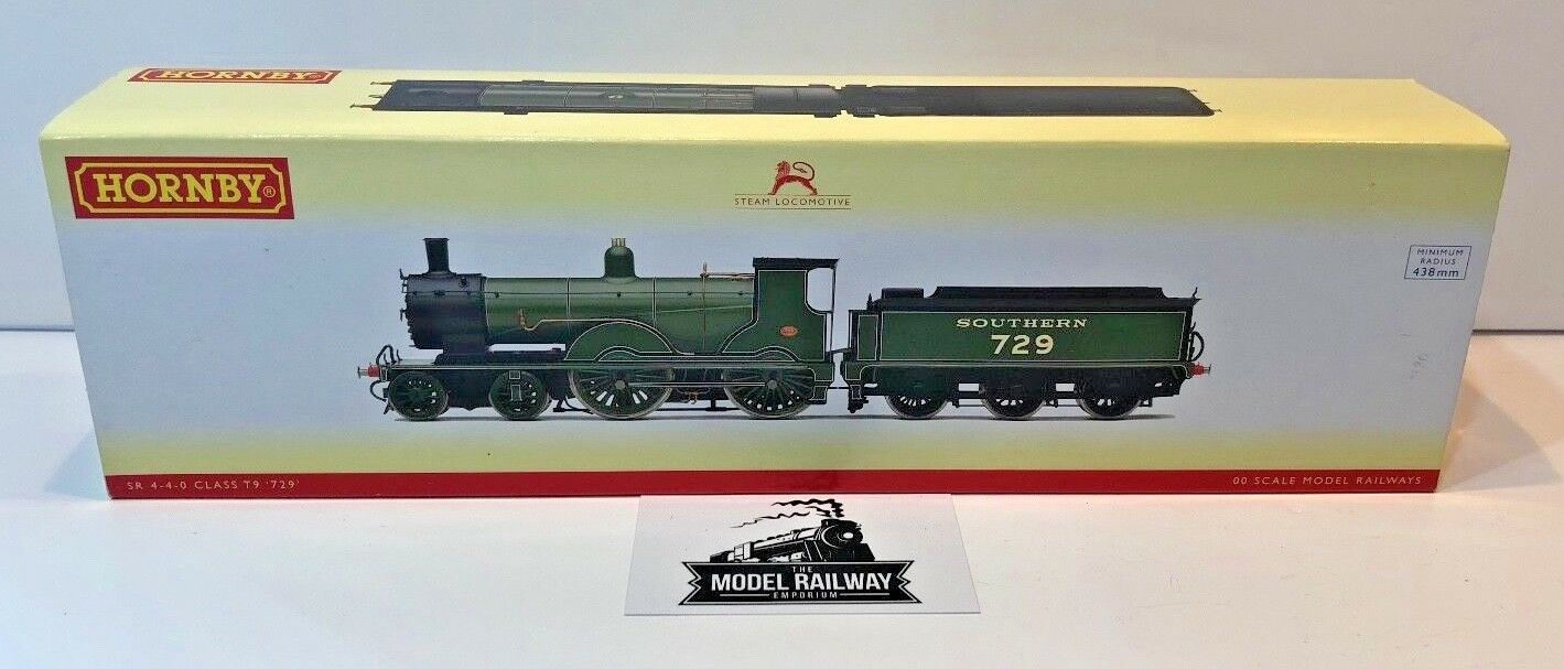 HORNBY 00 GAUGE - R2711 - SR SOUTHERN 4-4-0 CLASS T9 729 STEAM LOCOMOTIVE BOXED