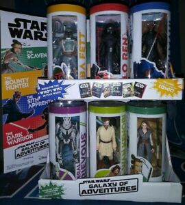 """Star Wars Galaxy Of Adventures 3.75/"""" Wave 2 Set of 6 NEW"""