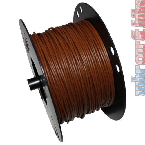 Hella KFZ-Kabel FLY Fahrzeugleitung 0,75mm² braun Kupfer 1-adrig Meterware