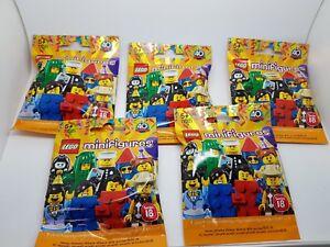 Lego-Minifiguras-Serie-18-40th-Aniversario-5x-Aleatorio-Ciego-Packs