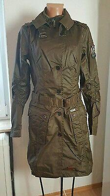 Khujo Mantel Any with inner Jacket Gr. L 40 42 Olive Braun Trenchcoat Jacke NEU