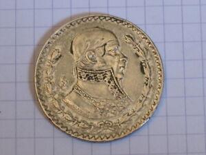MEXIQUE-1-Peso-argent-Jose-Morelos-y-Pavon-1958-Mexico