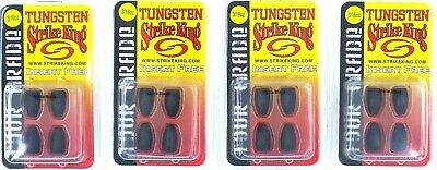 Packs Strike King Tungsten Bullet Weights Tour Grade Insert Free 1//2 Oz New 4