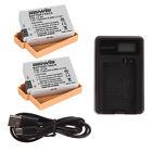 2x Battery + USB Battery Charger for Canon LP-E8 EOS 700D 650D 600D 550D