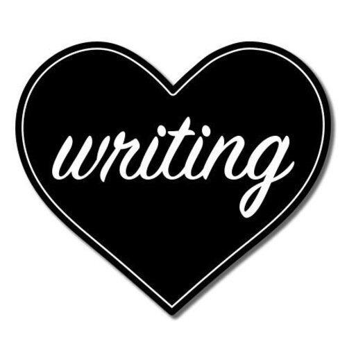 Love Writing Vinyl Sticker SELECT SIZE