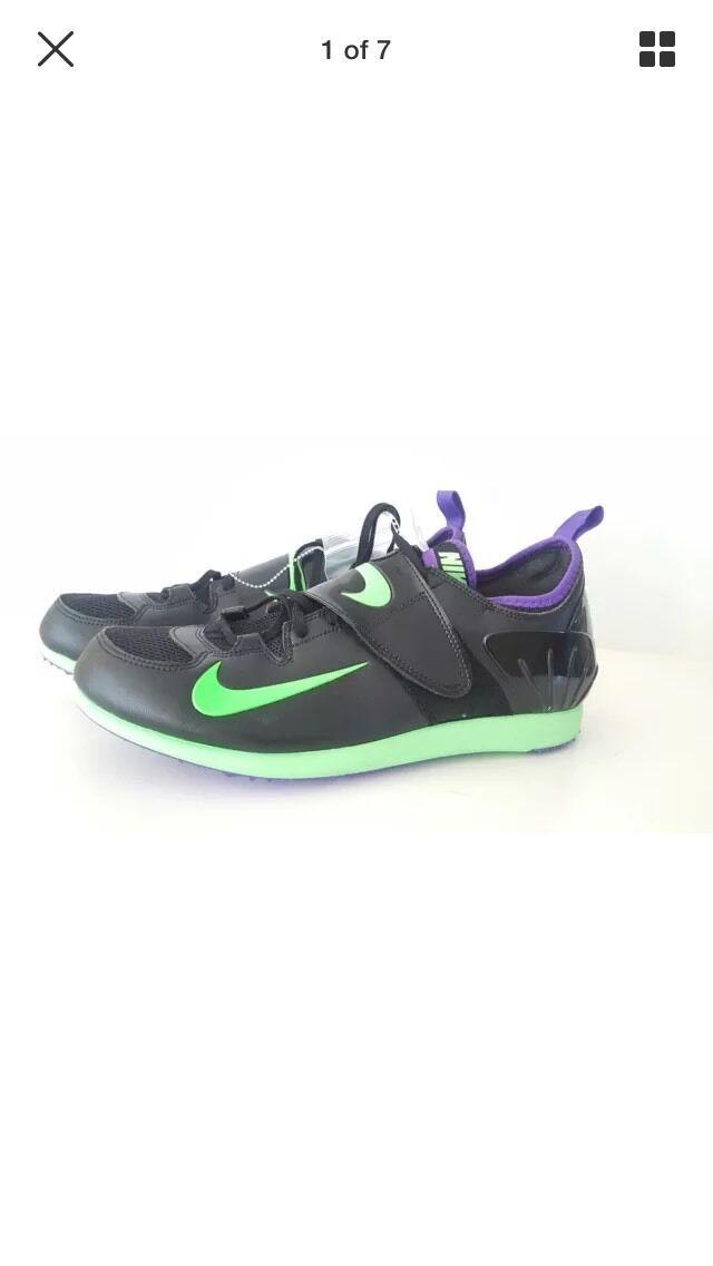 Nike Zoom PV II Pole Vault Track Spikes 317404 035 Mens 12 Black/prple/volt NNB
