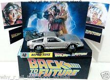 Hot Wheels BACK TO THE FUTURE 3 1981 DeLOREAN DMC-12 Car + Custom Box & Display
