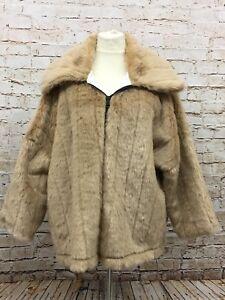 Fashion Zu Gr2 50 46 Plüsch 48 Braun Jacke Details Damen Übergrösse Neu Moonshine wP0Onk