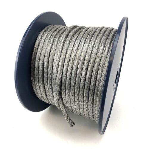 5mm Silver Dyneema SK75 12 Strand Rope x 60 Metre Reel