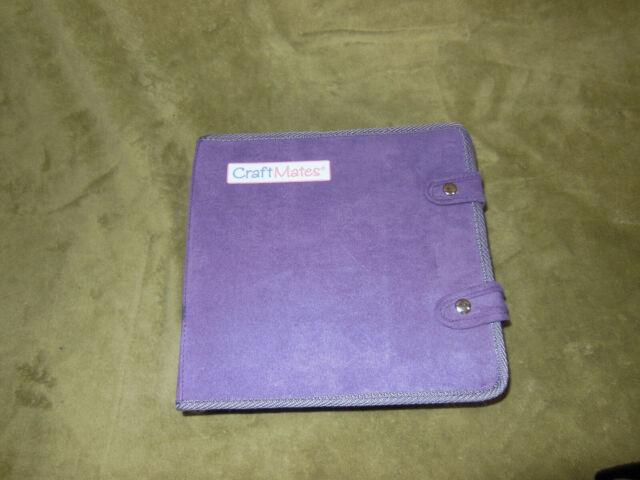 Craft Mates Lockables Ultrasuede Large Organizer Case Purple Jewelry Storage