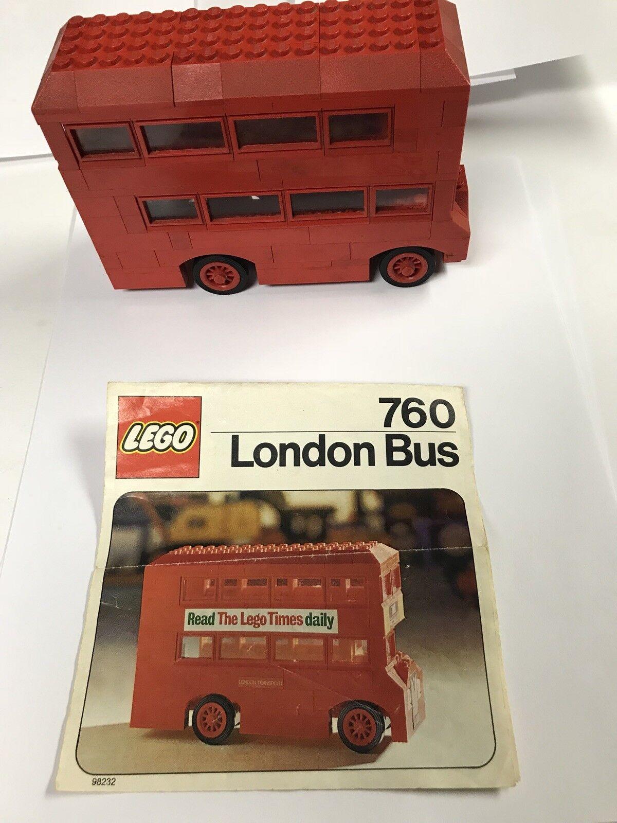 Vintage Lego Set 760 - London Bus From 1975 1975 1975 - Incomplete - Rare LEGO Set d019de