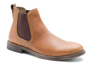 Red-Tape-Ashton-Honey-Leather-Mens-Chelsea-Boots-Free-UK-P-amp-P-RRP-55