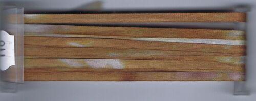 YLI 4mm Hand Dyed Varigated Silk Ribbon 3m Brown Grey 11