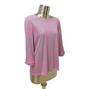 Olsen Top T-Shirt Tunic Pink UK 16 Cotton (EU44) NEW Women's 3/4 Sleeve RRP £60