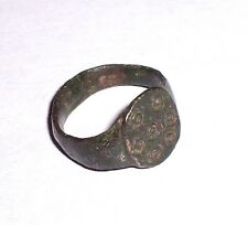 Medieval bronze Finger Ring. c. 14th century.  ring and dot