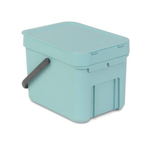 brabantia Sort/&Go Mint 6L Einbau Mülleimer Abfallsammler Komposteimer Tischeimer