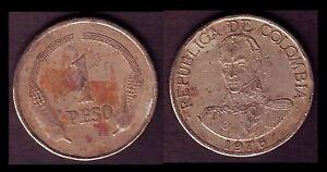 COLOMBIE / COLOMBIA 1 PESO 1976 E8 - France - Région: Amérique du Sud Métal: Nickel Pays: Colombie Année de frappe: 1976 - France
