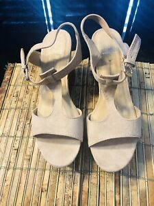 ND-New-Direction-Aerial-Women-039-s-Sandals-Size-8-5-M-Beige
