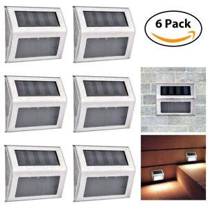 Outdoor-wasserdichte-Solar-Treppenlicht-LED-Schritt-Beleuchtung-Edelstahl-Lampe