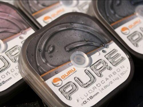 Guru Pure Fluorocarbon 50m Spule Vorfachschnur Stippvorfach Unsichtbar Fluro