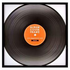 "12"" Record Frame Black Vinyl LP Record Artwork Sleeve Retro Display Music Gift"