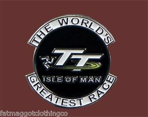 Isle of Man TT The World's Greatest Race Enamel Pin  Motorcycle - Transportation
