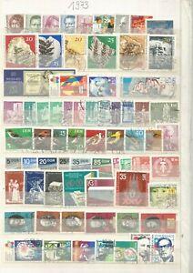 DDR   gestempelt 1973 komplett   mit allen Einzelmarken