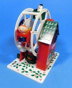 Vintage-Merry-Christmas-Musical-Ferris-Wheel-Santa-Claus-Sankyo-Hong-Kong-1960s