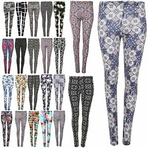 Kids Pants Trousers Leggings Fitted Girls Floral Waist Skinny High Waist
