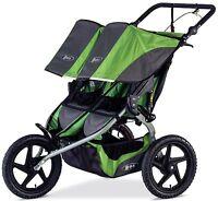 Bob Sport Utility Duallie Twin Baby Jogger Double Jogging Stroller 2016 Meadow
