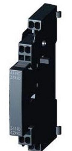 aiuta blocco predefinito OVP 2 pezzi Siemens interruttore ausiliario 3rv2901-2a elemento di contatto NUOVO