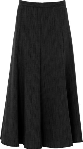 Ladies Maxi Flare Long 37 inches Length Plain Half Elasticated Skirt 12-28