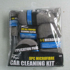 9pcs-Car-Care-Cleaning-Wash-Set-Microfiber-Car-Detailing-Washing-Tools-Kits-Grey