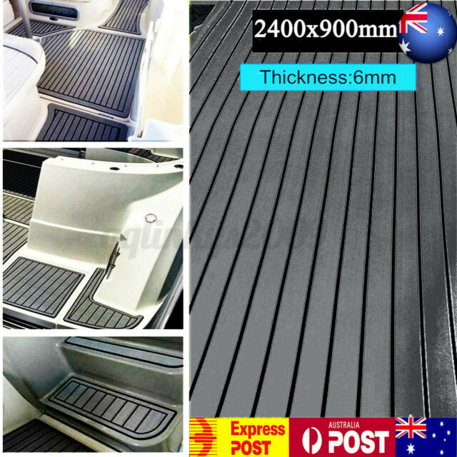 240cmx90cmMarine Flooring Faux Teak EVA Foam Boat Yacht Decking Sheet 6mm AU AU