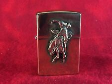 Vintage Brass 1990s ZIPPO Lighter Marlboro Cowboy Bucking Bronco Rodeo Horse