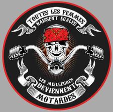 MOTARDE TETE DE MORT BOBBER HARLEY BIKER 9cm AUTOCOLLANT/STICKER MOTO MA188