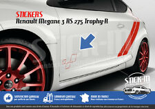 Renault Megane 3 RS TROPHY-R 275 Stickers Autocollants Portes Doors Decals