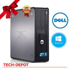 Dell Slim Desktop Tower Computer PC Windows 10 Intel Core 2 Duo 4GB 160GB FAST