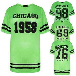 New Womens Neon Green Airtech Sports T Shirts 8 26 Ebay