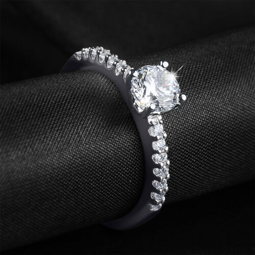 Womens 0.75 CT Anniversary Engagement Band RING White Gold Plated SIZE 5-9