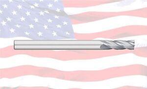 "3//8/"" TITAN USA 4 FLUTE SINGLE END X-LONG CARBIDE END MILL TC17624"