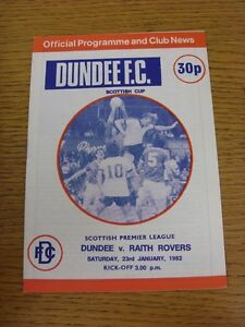 23011982 Dundee v Raith Rovers Scottish Cup Excellent Condition - Birmingham, United Kingdom - 23011982 Dundee v Raith Rovers Scottish Cup Excellent Condition - Birmingham, United Kingdom