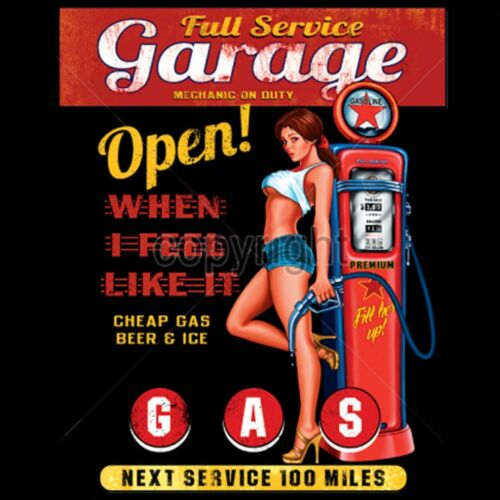 Full Service Garage Open When We Feel Like It Mechanic Sleeveless T Shirt