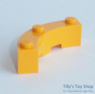 NEW Six 4x4x1 Quarter Circle Bow Brick White 48092 Lego