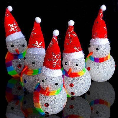 New Ice Crystal Christmas Snowmen Night Light LED XMAS Party Decor Gift