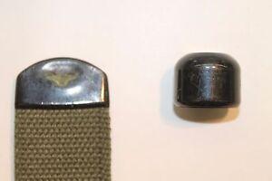 "Military Web Strap End Tip, 1 1/2"" Mil-Spec Webbing Ball Tip, Black. Lot of 10"