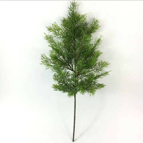 Artificial Green Plant Cypress Tree Leaf Pine Branch Christmas Party Home Decor
